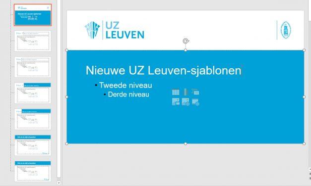 PowerPoint-sjablonen UZ Leuven in nieuw jasje